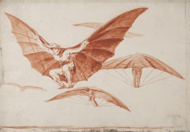 Francisco de Goya. Modo de volar.  Bibiloteca Lázaro Galdiano, inventario 14866-22